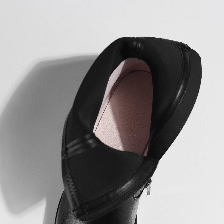 Cremalleras Otoño Tobillo Botas Color 2019 43 Primavera Genuino Tacón Negro Bajo Mljuese Black De Martin Mujeres Cuero Tamaño 33 vqznSEw