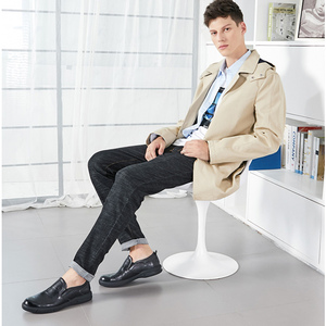 Image 2 - KAMEEL Herfst Nieuwe Toevallige mannen Instappers Mannen Echt Lederen Schoenen Mode mannen Business Lichtgewicht Elastische Slip Mannen Schoenen
