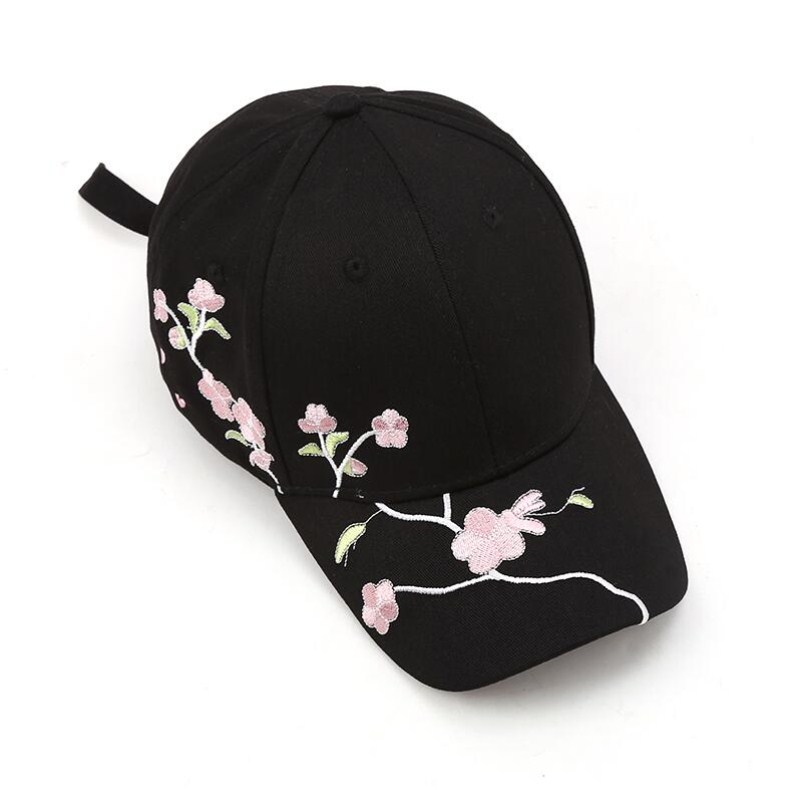 Seioum Women Summer Hats Symmetrical Flower Embroidery Built-in insulation Knitted Hats Femme   Baseball     Cap   Adjustable