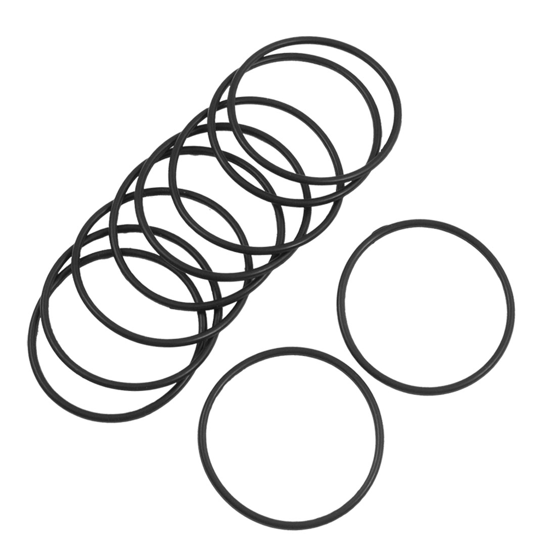 Uxcell 10 Pcs 2Mm Flexible Filter Rubber O Ring Seal Black Id . | 35mm | 38mm | 42mm | 46mm | 48mm | 49mm | 51mm | 53mm | 56mm image