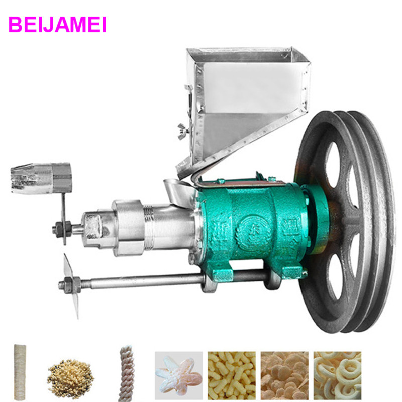 BEIJAMEI Small Business Use Mini Puffed Corn rice Snacks Food Extruder machines/rice puff snack extruder machine multifunctional corn and rice puffing machine grain bulking extruder machine puffed maize snacks making machine zf