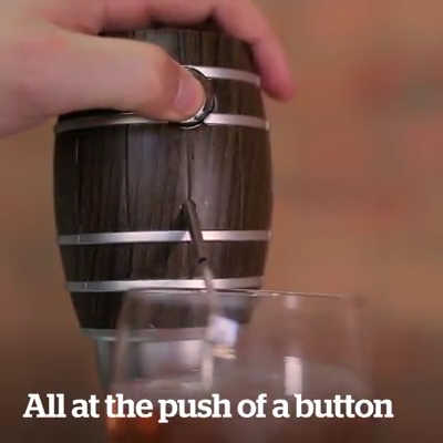 Barrel Shape Whiskey Wine Decanter Electric Cider Pump Aerator 6 Seconds  Fast Sobering Telescopic Suction Pipe Wine Dispenser