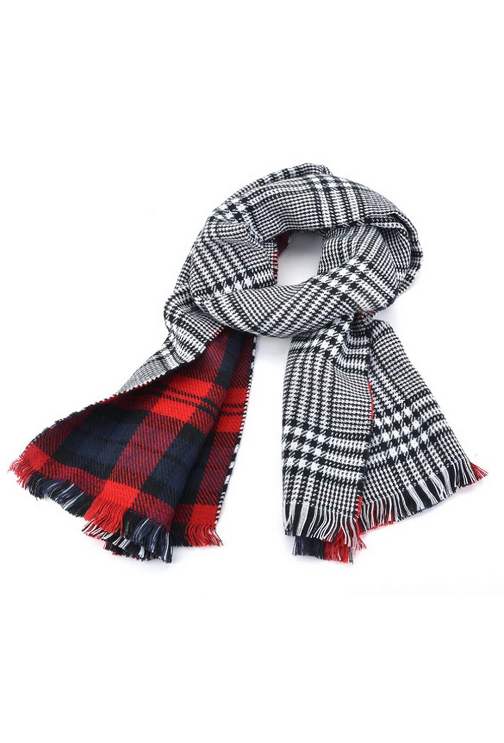 Lady Women's Long Check Plaid Tartan   Scarf     Wraps   Shawl Stole Warm   Scarves   Red