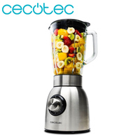 Cecotec American Tumbler Mixer Power Titanium 1250 Blender with 1250w Power Designed in Stainless Steel Detachable Blades