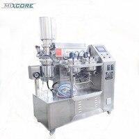 ZJR 5 Lab Vacuum Emulsifying Machine Mixer Food Blender With Digital Display High Speed Mixing Cream Production Equipment
