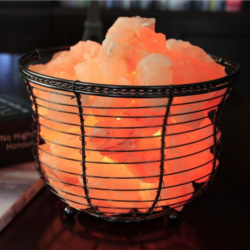 Natural Himalayan Salt Lamp Crystal Rock Salt Lamp Night Light Air Purifier Round Basket Dimming Function US Plug покрывало на диван les gobelins mexique 160 х 200 см