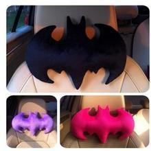 33 см черный/розовый цвет bat фигурный плюшевый подушка для шеи в автомобиль украшения Бэтмен плюша подушка для путешествий подголовник