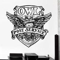 New Arrival Harry Potter The Hogwarts Magic School Badge Owl Wall Stickers Vinyl Art Home Decor
