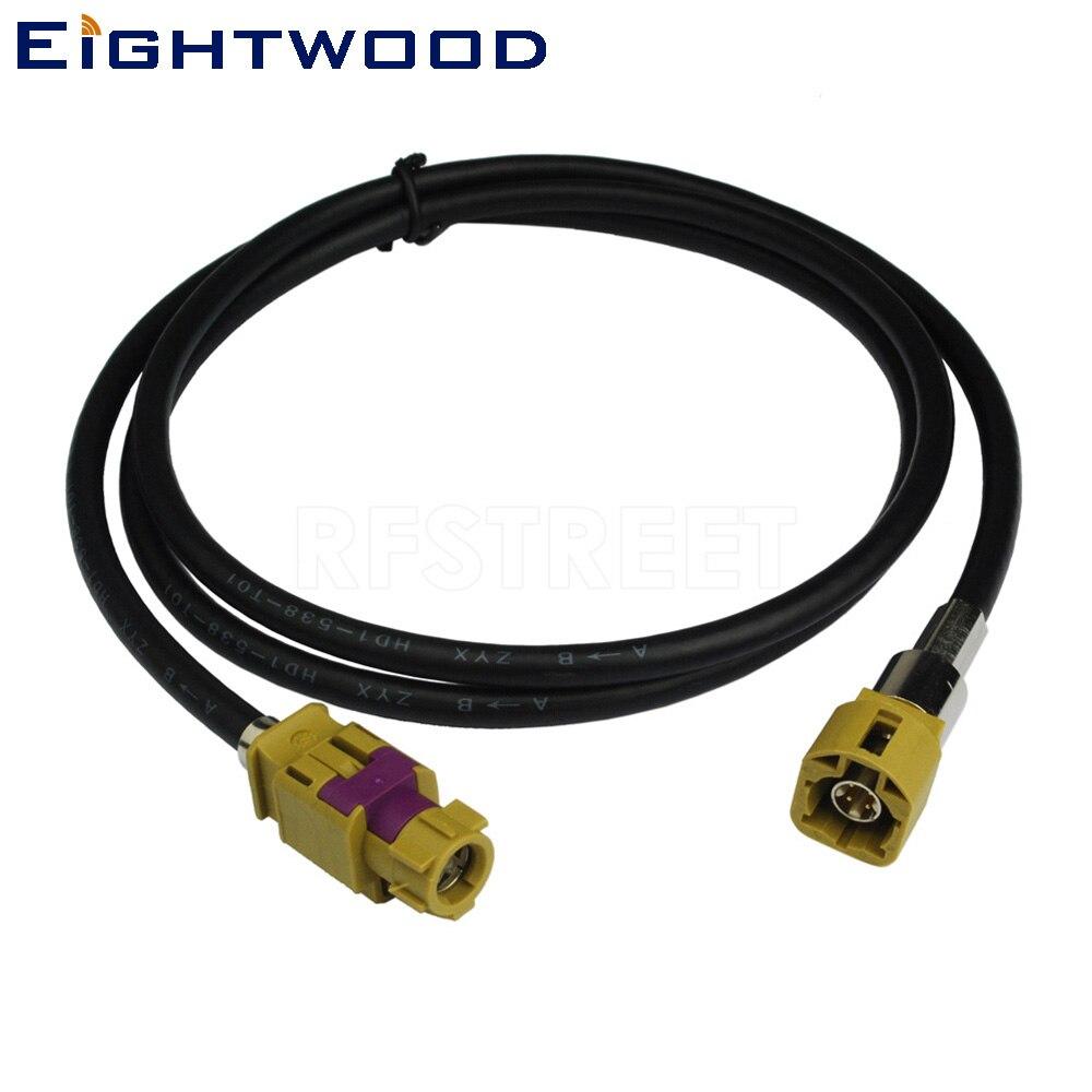 Eightwood Nouveau Véhicule Haute-vitesse Transmission FAKRA HSD Code K Curry LVDS 120 cm Blindé Dacar 535 4- core Câble