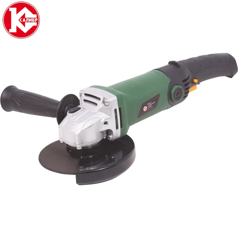 Kalibr MSHU-125/955 Electric Angle Grinder Polisher Machine Hand Wheel Grinder Tool kalibr mshu 125 1055 angle grinder grinding machine metal polisher angular power tool metal and wood cutting sanding polishing