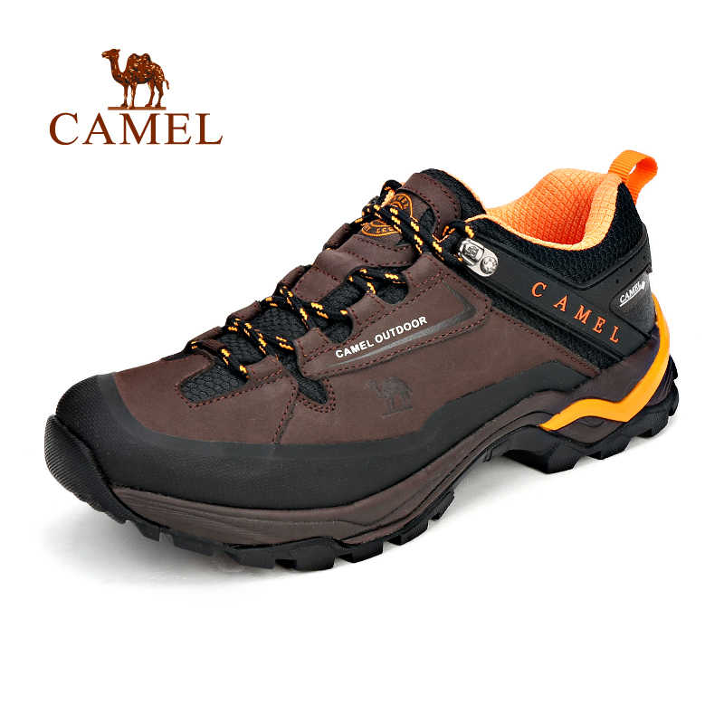 fe0b27a6329 CAMEL Men Outdoor Hiking Shoes Leather Slip-resistant Breathable  Comfortable Waterproof Camping Climbing Trekking Sneakers