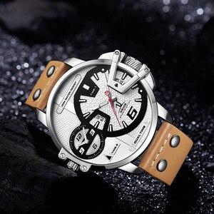 Image 3 - WEIDE גברים שעונים ספורט צבאי רצועת לבן חיוג תנועה אנלוגי שעון קוורץ שעוני יד עמיד למים Relogio Masculino reloj