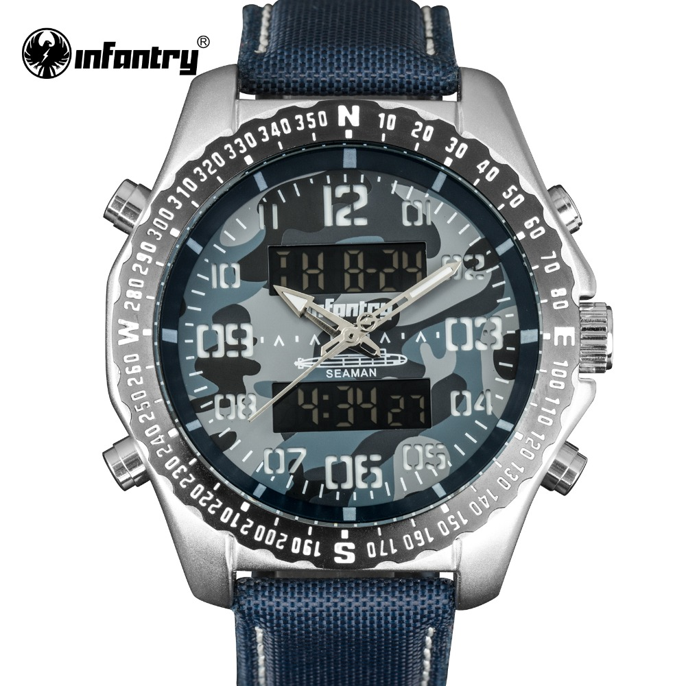 цена на INFANTRY Military Watch Men LED Digital Quartz Mens Watches Top Brand Luxury Tactical Army Marine Police Relogio Masculino 2018