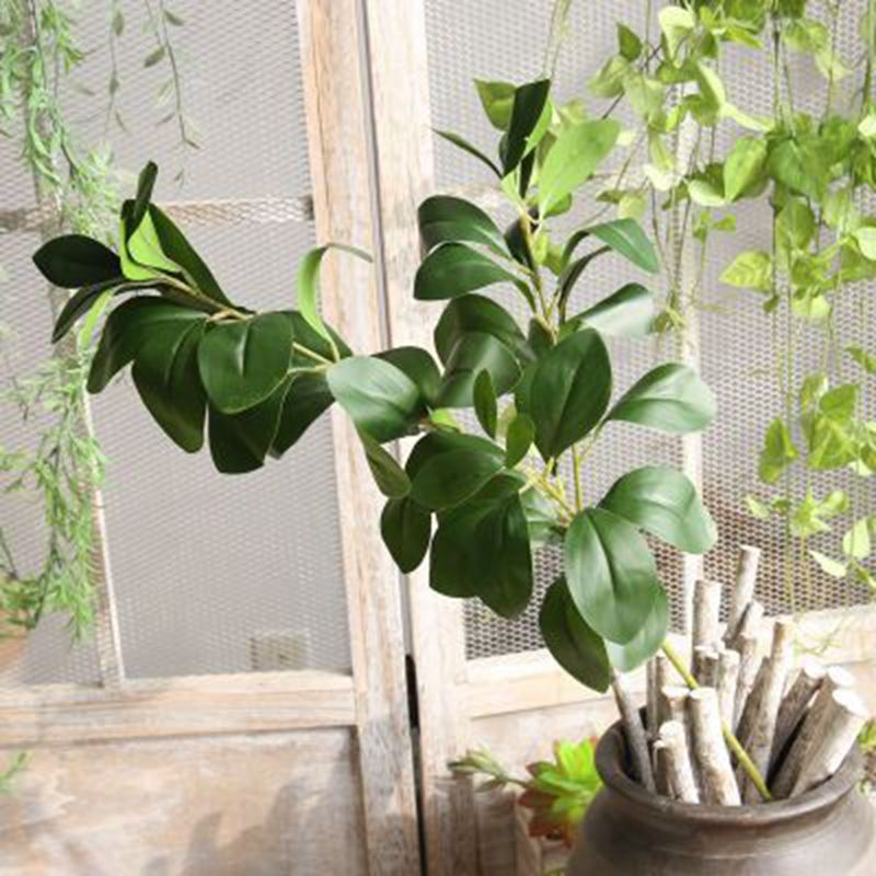 Simulation Green Plant For Home Wedding Office Store Decorations Simulation Milan Leaves DIY Flower Accessories 3pcs