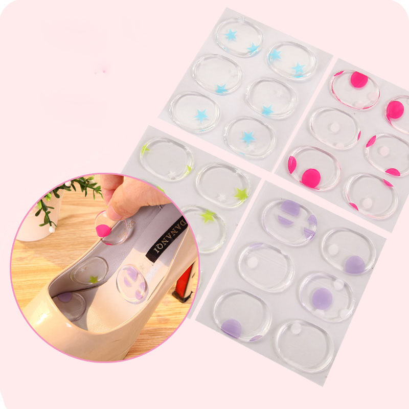 Free Ship Invisible Silica Silicone Gel High Heels Cushion Protector Foot Feet Care Shoe Back Insert Pads Insoles Stickers