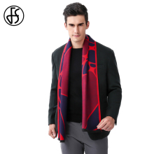 FS Tartan Scarf Men Cashmere Brand Luxury Winter 2017 Long Wool Warm Designer Scarfs Bandana Scarves