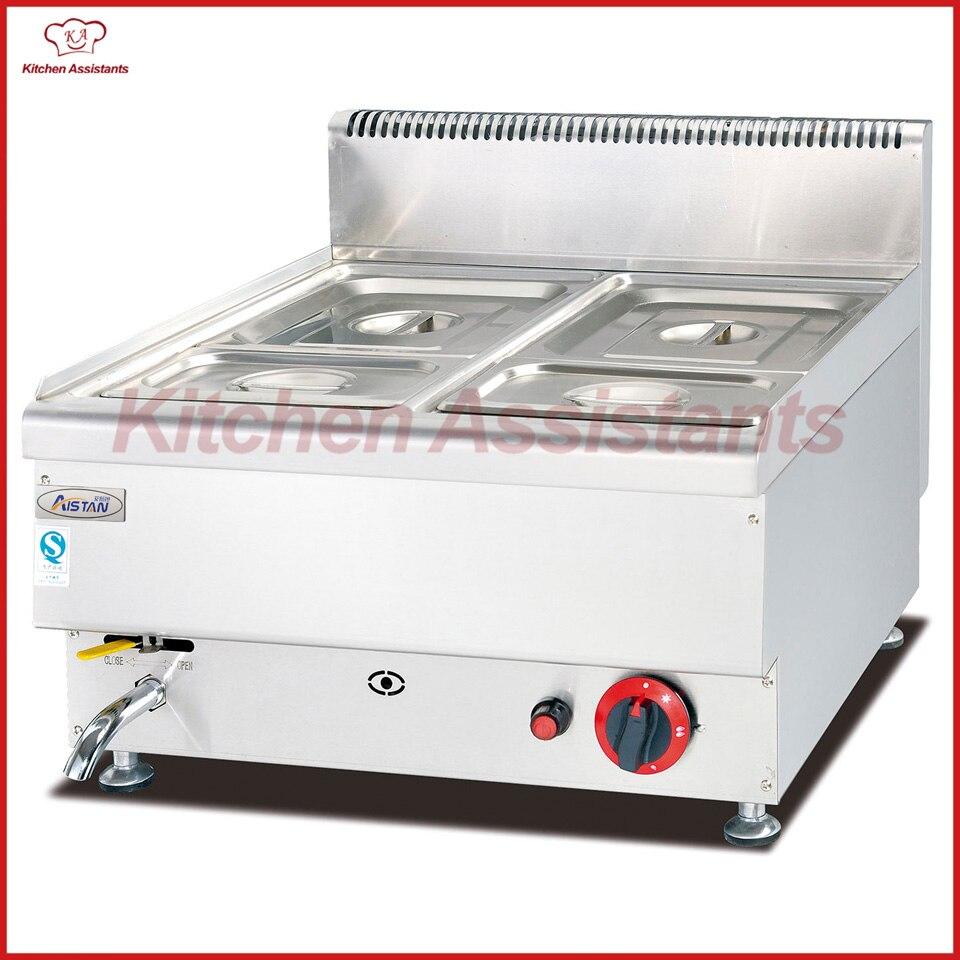 Haushaltsgeräte Gh544 Gas Bain Marie Mit 2 Pfannen Catering Ausrüstung Großgeräte