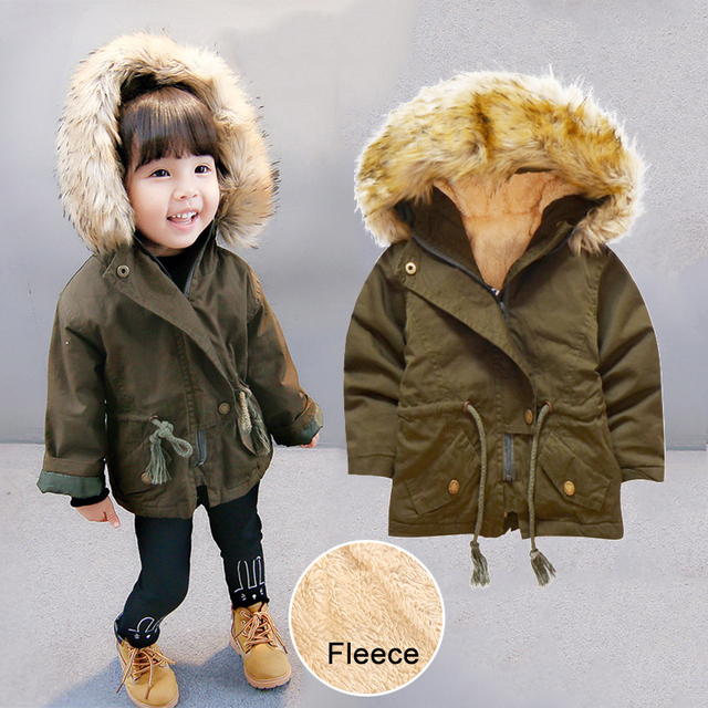 cb93506e2 Baby Boys Girls Coat Kids Parka Winter Jackets 2018 Children Cotton ...
