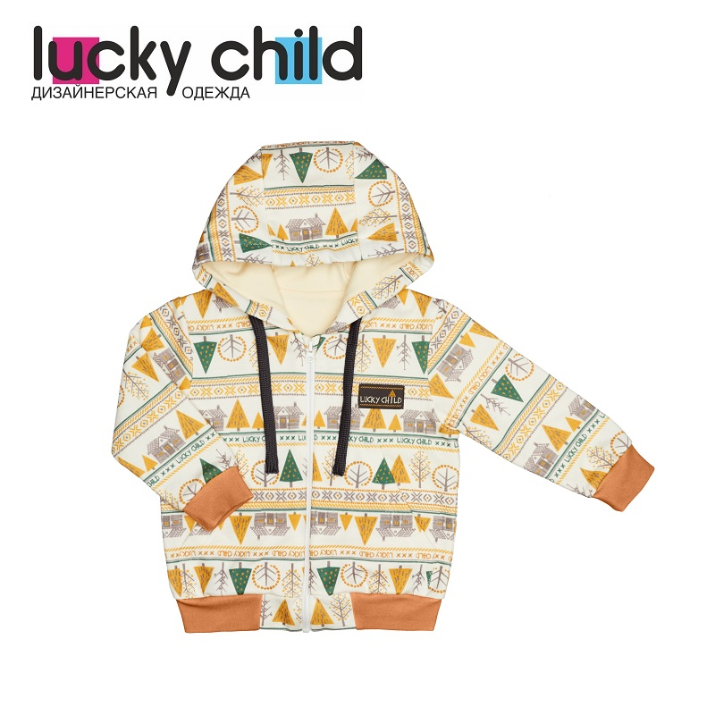 Hoodies & Sweatshirts Lucky Child for girls and boys 63-17f Cardigan Sweatshirt Kids Coat Children clothes kids spring formal clothes set children boys three piece suit cool pant vest coat performance wear western style