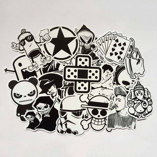 Pcs Set Mixed Waterproof Graffiti Sticker Home Decor Doodle Laptop Motorcycle Car Stickers Cartoon Decals