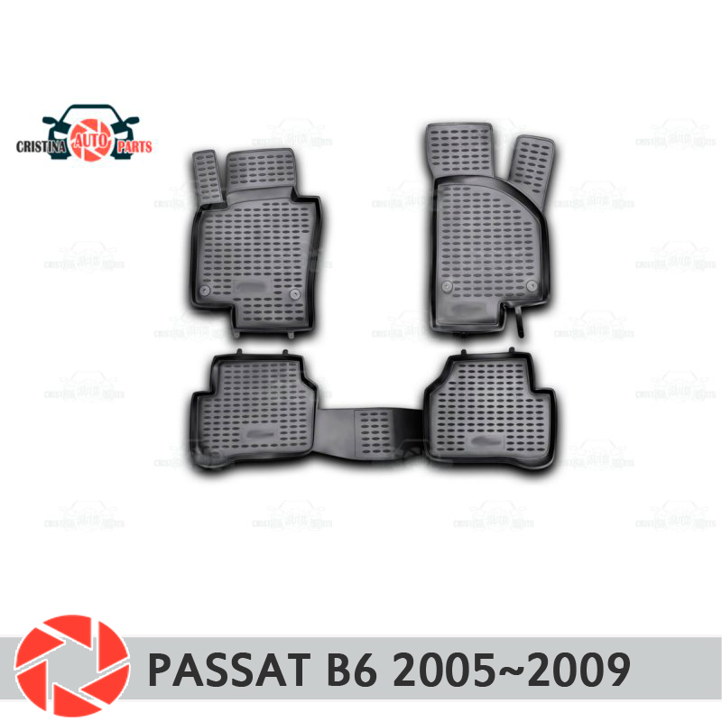 Tapis de sol pour Volkswagen Passat B6 2005 ~ 2009 tapis antidérapant polyuréthane protection contre la saleté accessoires de style de voiture intérieure