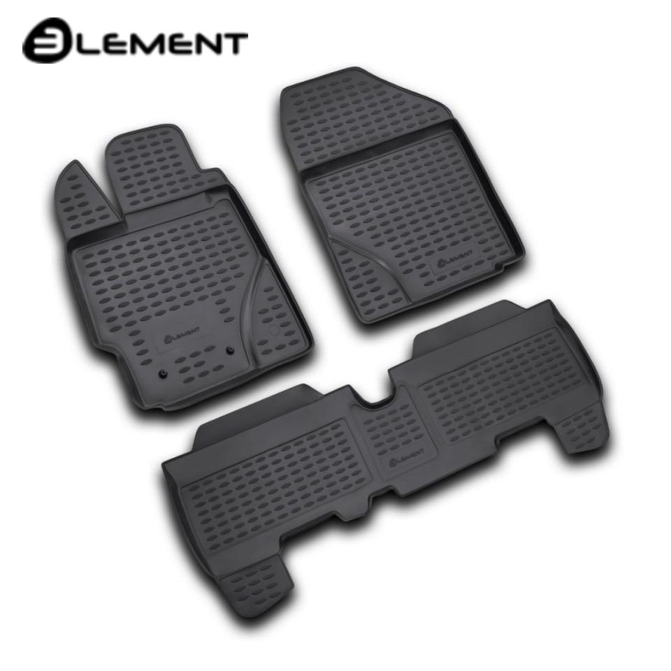 For Toyota Yaris 2006-2010 floor mats into saloon 3 pcs/set Element NLC4810210K цена и фото