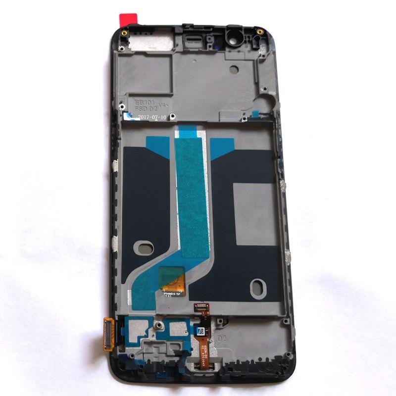 Pour Oneplus 5/cinq A5000 écran Lcd avec capteur tactile verre cadre numériseur ensemble complet Lcds de réparation pour Amoled