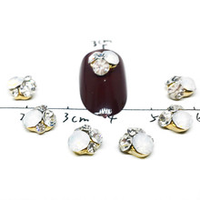 10 Pcs/Lot 3D Rhinestones For Nails Design Flower Style Gem Mixed White Diamond Shiny Glitter Uv Gel Party Salon