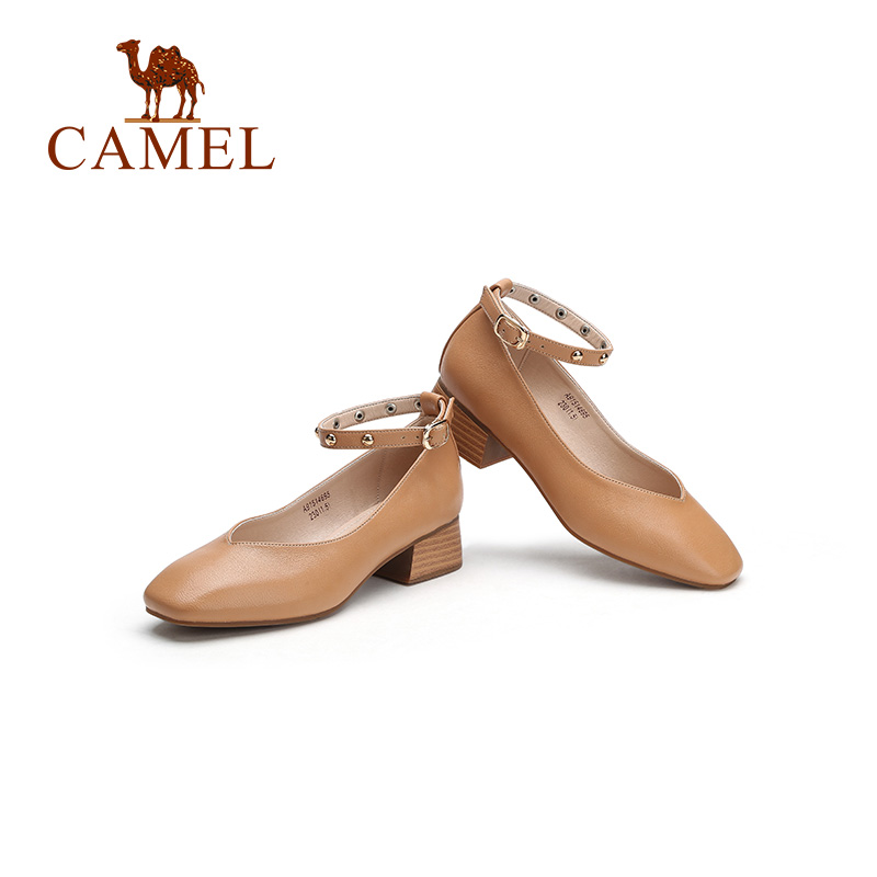CAMEL Women Boots Shoes 2018 Winter New Flat Heel Boots England Martin Shoes Simple Wild Short