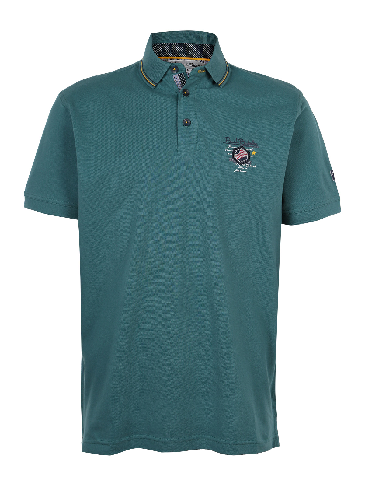 Polo   shirt cotton short-sleeved green