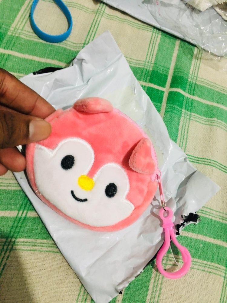 wholesale Full NEW All Designs , Cartoon 8cm plush coin BAG , children's cheap Coin Purse Pouch ; plush Coin Wallet Pouch bag photo review