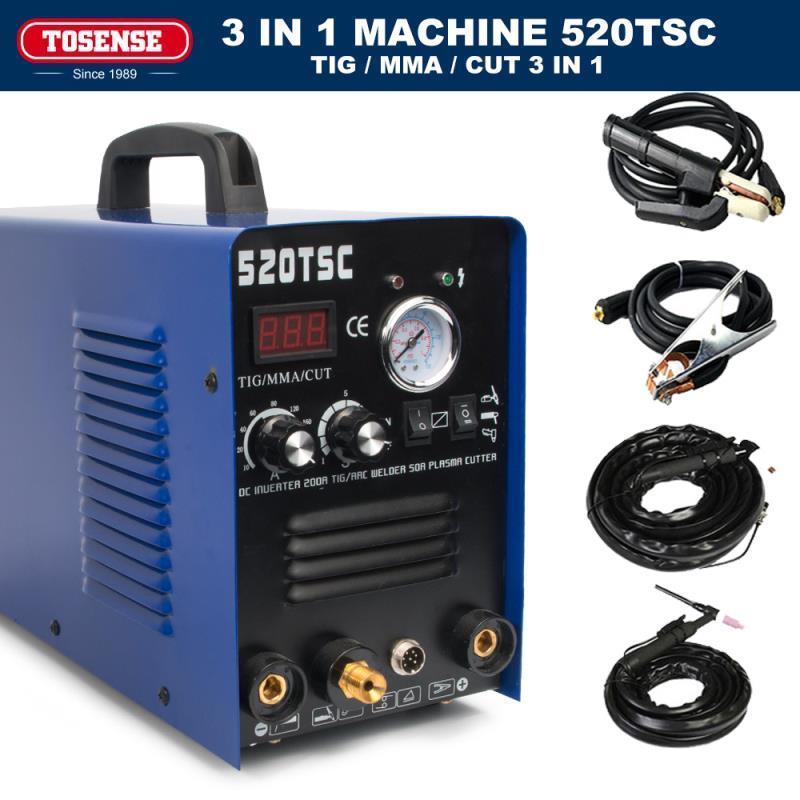 50A Plasma cutter, wig-schweißen, 200A tig/mma schweißer 3in1 schweißen maschine & zubehör 110/220V