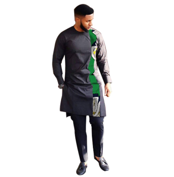 Fashion African Print Clothing Men Tops+Trousers Set Shirts And Pants Sets Festive Costume African Men Clothes Customize
