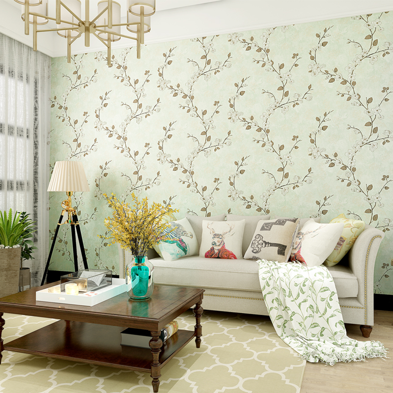 American Country Style Plum Flower Wallpapers Classic ...