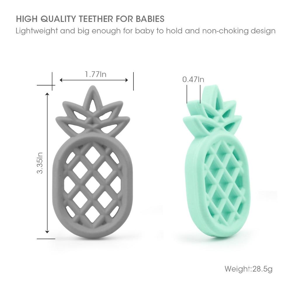 TYRY.HU Pineapple Formuar Foshnje Teethers 1Pc BPA Falas Lodra për - Kujdesi për foshnjen - Foto 4