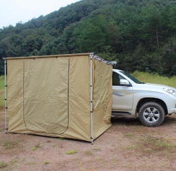 2M x 3M na zewnątrz 420D Oxford boczna markiza na dachu namiot przyczepa campingowa 4WD samochód 4X4 stojak z przebieralnia samochód namiot na dach tanie i dobre opinie Namiot dla 5-8 osób Pręt stalowy 3000mm JX190228008 A brand-new unused unopened undamaged item 5-8 Person Waterproof