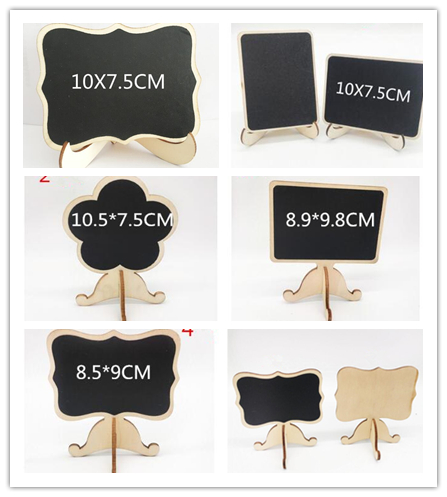 5 Stks Message Board, Hout Beugel Schoolbord, 5 Stijlen Optioneel, Voor Wedding Party \ Bericht \ Tafel Nummer \ Graffiti \ Geschenken D14