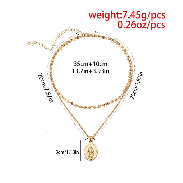Bls miracle boho ожерелья с блестками для женщин винтажный круглый