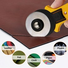 Rotary cutter 45mm 28mm thin thick leather tools fabrics knife trimmer leathercraft hob cutting cloth paper patchwork round rotary paper cutter trimmer 860mm 33 8inch
