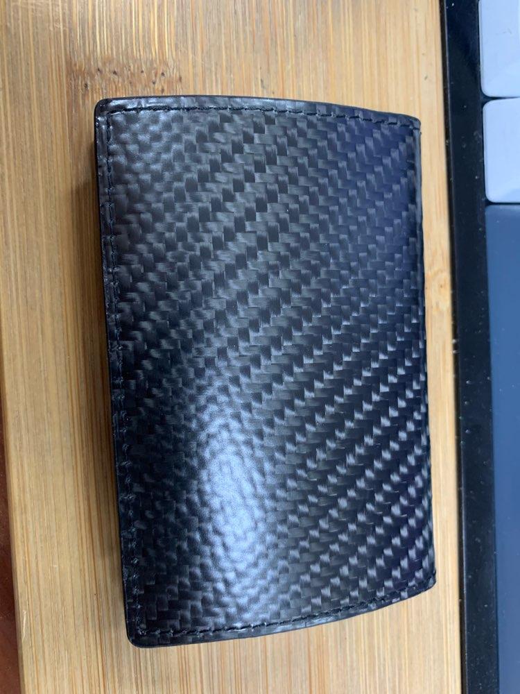 Monocarbon Koolstofvezel Naam Kaartvak Houder Kaarthouder Luxe Visitekaarthouder Etui Heren Visitekaartje Case Box photo review
