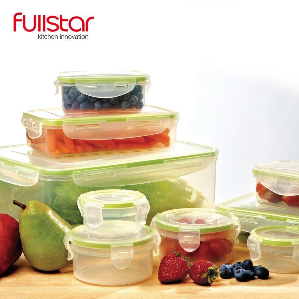 Fullstar Boîte En Plastique boîte À Lunch cuisine accessoires récipient pour Micro-ondes alimentaire 9 PCS bento boîte pour légumes cuisine outil
