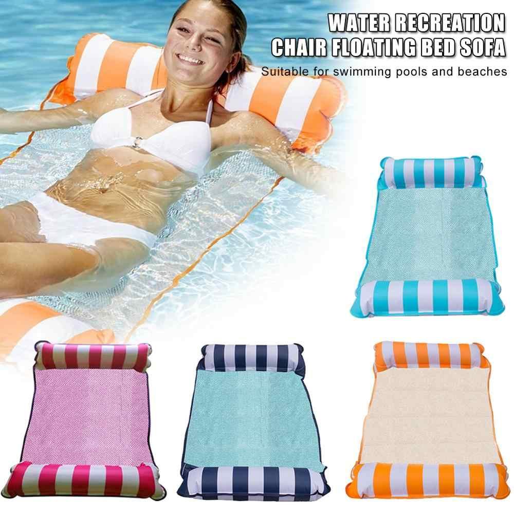 Zomer Nieuwe Opblaasbare Bed Sofa Drijvende Rij Zwembad Luchtbedden Beach Opvouwbare Zwembad Stoel Hangmat Piscina 130x70cm