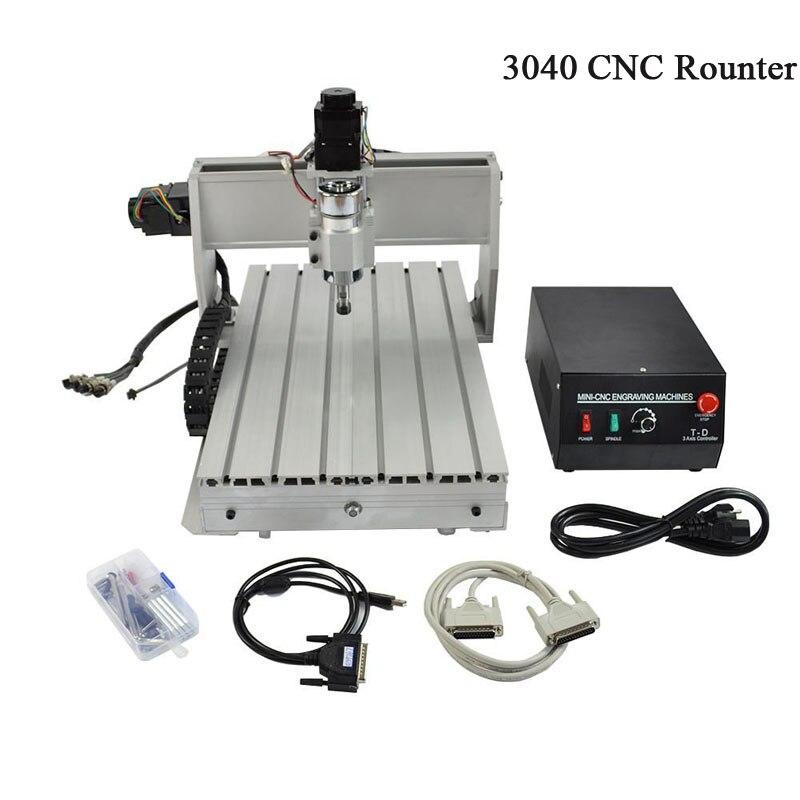 CNC 3040 macchina per incisione 3040 T-D A tre assi fili vite mini incisore per legno e altri materiali morbidi di CNC router