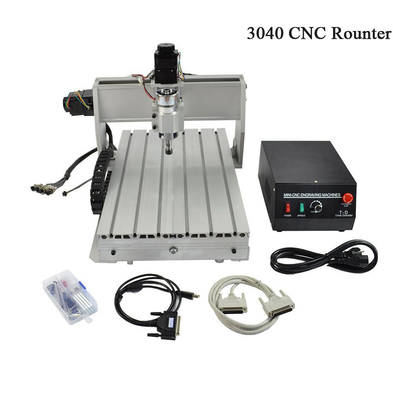 CNC máquina de gravura 3040 3040 tópicos T-D Três-eixo parafuso de mini CNC máquina de gravura de madeira e outros materiais macios router