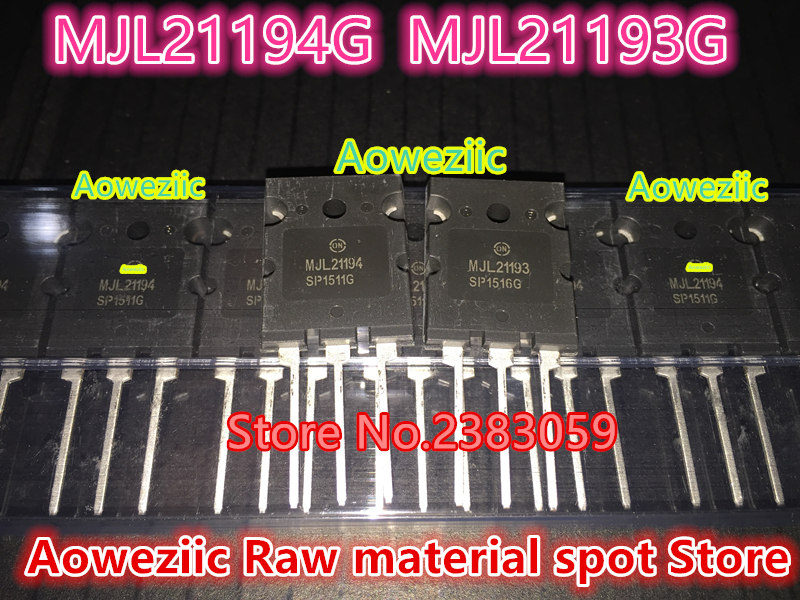 все цены на Aoweziic 100% new imported original MJL21193G MJL21194G MJL21193G TO-3P high power tube audio paired tube MJL21193 MJL21194 онлайн