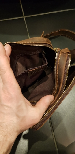 New Genuine Leather Men'S Messenger Bag Vintage Shoulder Bags For 7.9