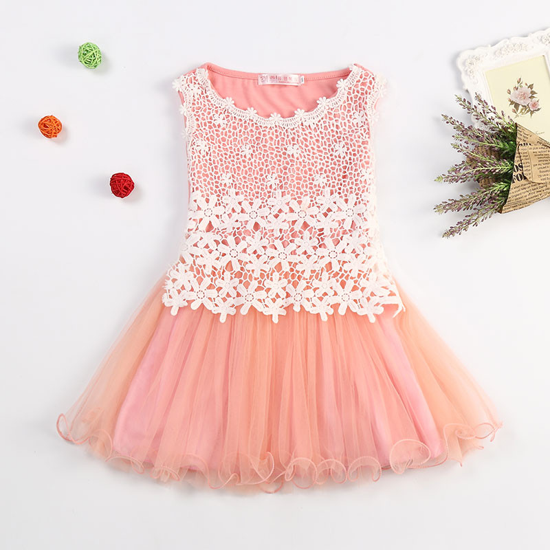 Infant Vestido New Brand Flower Lace Princess Dress Girl Kids Clothes Children Sundress Tutu Baby Girl Party Frocks Casual Wear