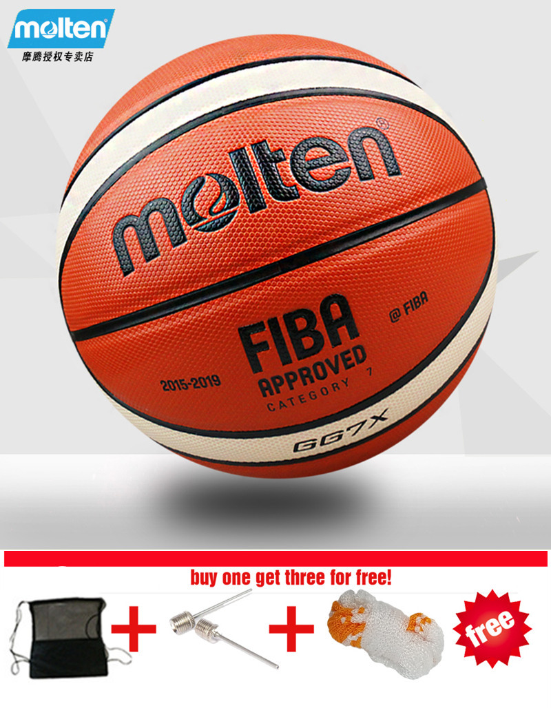 Wholesale or retail Brand Cheap Molten GG7X Basketball Ball PU Materia Official Size7 Basketball indoor and outdoor Ball Train