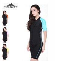 Sbart Men Women Surf Clothing UV Sunscreen Short sleeve Diving Wetsuit Snorkeling Swimwear Summer Beach Shirt