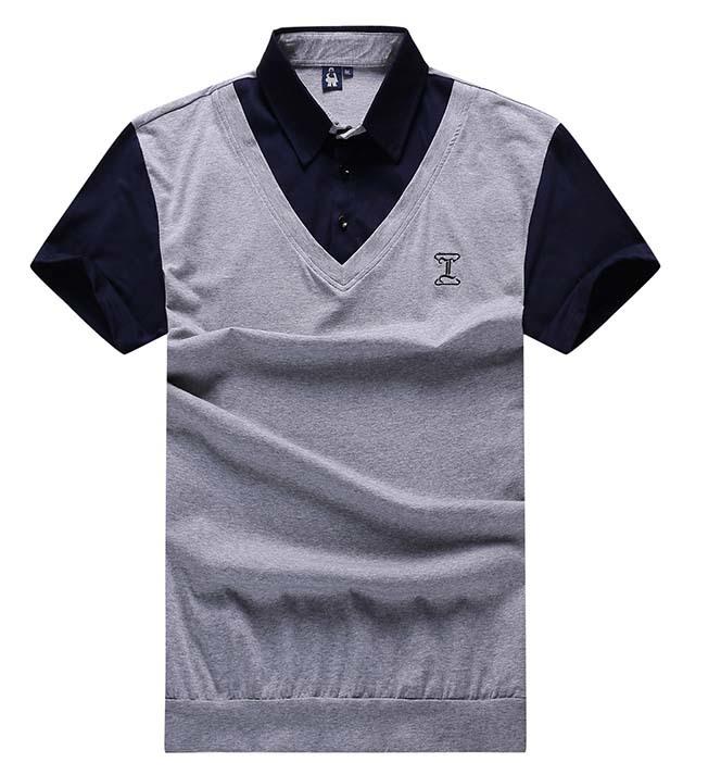 10XL 9XL 8XL 7XL 6XL 5XL 4XL Men's Stripe splicing polo shirt New Dressed Short Sleeve Polo Shirt Men's Turn Down Collar tee